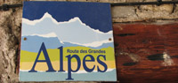 La Route des Grandes Alpes sign in Sospel