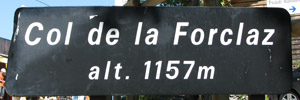 Col de la Forclaz - Sign