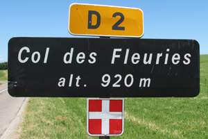 Col des Fleuries - Sign