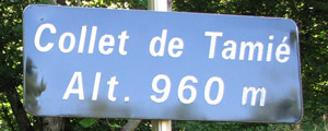 Collet de Tamié - Sign