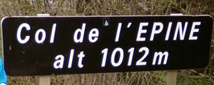 Col de l'Epine - Sign